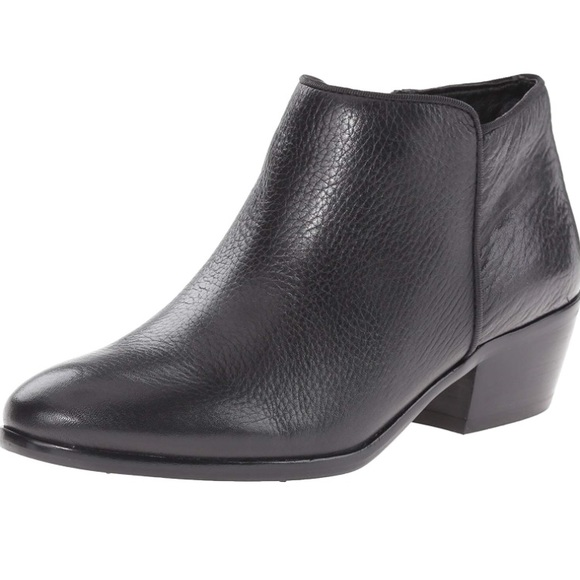3fe82497be8de8 Sam Edelman Black Leather Petty Ankle Boot. M 5b95666b9539f7edf2bde4b9